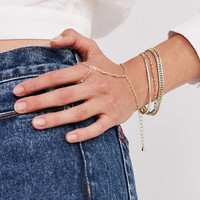 Gold Chain Ring To Wrist Bracelet | Urban Outfitters