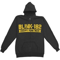 Blink 182 Men's  Barb Zip Hoodie Zippered Hooded Sweatshirt Black