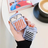 Marble Off White Protective Airpod Case