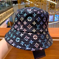 LV 2019 new full printed colorful gradient color boutique fisherman hat baseball cap