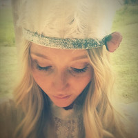White feather Headband,boho,Tiara,hair jewelry,Indian style,ethnic,tribal,wedding accessory,bride hair jewelry,feather crown, photo prop