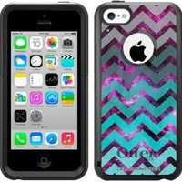 Otterbox Commuter Nebula Chevrons Grey Green Turquoise Case for iPhone 5C