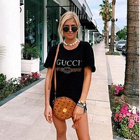 GUCCI men and women all-match classic round neck short sleeve T-shirt