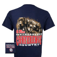 Mississippi Ole Miss Rebels Loyalty Runs Deep Dog Country Unisex Bright T-Shirt