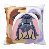 Throw Cushion, English bulldog cushion, English bulldog pillow, bulldog, pillow