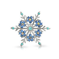 Bling Jewelry Blue Snowflakes Pin