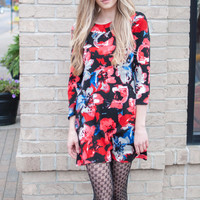 Bouquet of Roses Sweater Dress
