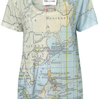 Map Print Tee By Tee And Cake - Apparel Brands  - Designers