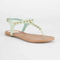 City Classified Diary Womens Sandals Mint  In Sizes