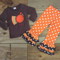Polka Dot Flare Turkey Outfit