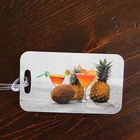 Beach Vacation Luggage Tags - Fruity Drinks