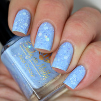 Nail polish  Hole in the sky silver dot and by EmilydeMolly