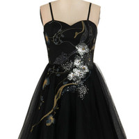 Mid-length Strapless Fit & Flare Perfect Poise Dress in Night Blossom