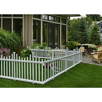 2 Pack White Fence Easy Assembly