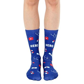 Nurse Hero Crew Socks