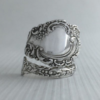 Size 7.5 Vintage Sterling Silver Wallace Spoon Ring