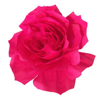 Giant Paper Rose, Crepe paper Rose, Giant bouquet flower. Hot pink crepe paper Rose, Fake flowers, Baby shower decor, Big Bouquet flowers