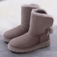 Women's UGG snow boots Middle boots DHL _1686248855-445