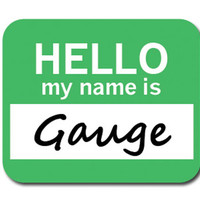 Gauge Hello My Name Is Mouse Pad
