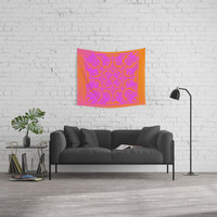 Retro Graphic Wall Tapestry by anipani