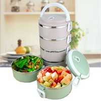 4 Layers Sealed Container For Food Storage Thermal Lunch container  304 Stainless Steel Bento Box Portable Picnic Food Container