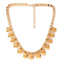 FOREVER 21 Box Chain Bib Necklace Gold One