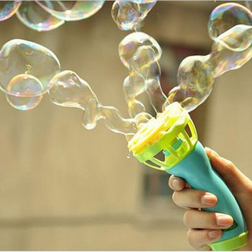 Hot Electric Bubble Gun Toys Bubble Machine Automatic Bubble Water Gun Essential In Summer Outdoor Children Bubble Blowing Toy