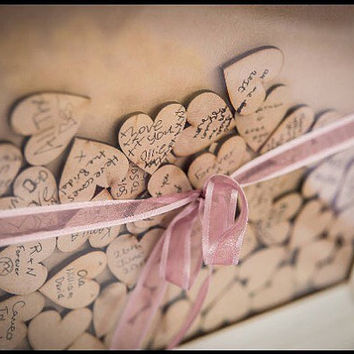Wedding Guest Book, Drop Box, Personalised Guestbook, Wooden Guestbook. Rustic Guestbook
