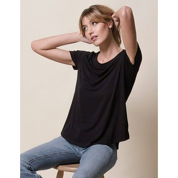 Bamboo Relaxed Tee - Black