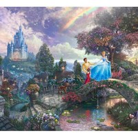 Cinderella Wishes Upon A Dream Painting by Thomas Kinkade