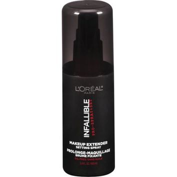 L'Oreal Paris Infallible Pro-Spray & Set Makeup Extender Setting Spray, 3.4 fl oz - Walmart.com