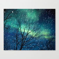 Aurora Borealis Northern Lights Stretched Canvas by Bomobob