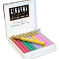 Ziganov Colours Cigarettes - Pack of 20 - Smoke-king Family run Specialist Tobacconist Est:1989