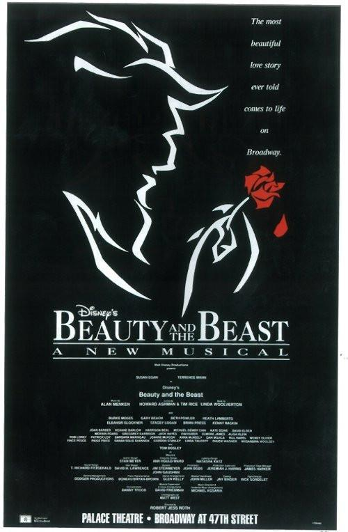Image of Beauty and The Beast 11x17 Broadway Show Poster (1994)