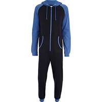 Blue and black two-tone all-in-one - all in ones - loungewear / all in ones - men