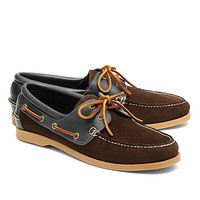 Suede and Leather Boat Shoes - Brooks Brothers