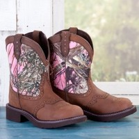 Justin Ladies' Pink Camo Gypsy Boots - Western - Women's - Boots