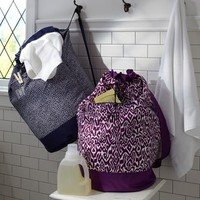 Ikat + Mini Dot Laundry Backpacks
