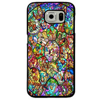 Disney All Characters Stained Glass Samsung Galaxy S7 Edge Case