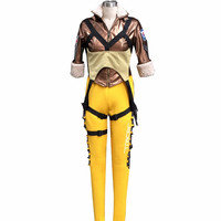 OW Game Hero Tracer Lena Oxton Cosplay Outift Video Game Cosplay Halloween Costumes for Girls/Women/Female/Girls Free Shipping