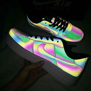Nike Air Force 1 Chameleon Laser Hot Sale Women Men Personality Running Sport Shoes Sneakers