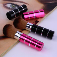 High Quality Retractable Soft Face Cheek Powder Foundation Blush Brush Makeup Cosmetic Tool