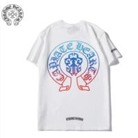 Chrome Hearts New fashion pattern print couple top t-shirt White