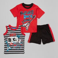 Red 'Future Rock Star' Tee Set - Infant & Toddler   zulily