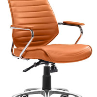 ZUOmod Enterprise Low Back Office Chair - Black, White, Espresso or Orange
