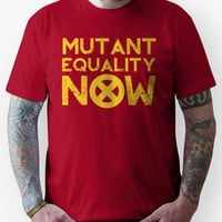 X-Men Mutant Equality NOW Red T-shirt Unisex T-Shirt