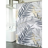 Tropical Shower Curtain With 12hooks