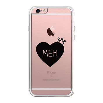 Heart Meh Phone Case Cute Clear Phonecase For Girls