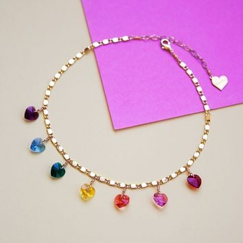 Rainbow Love Choker