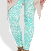 2 color aztec printed legging